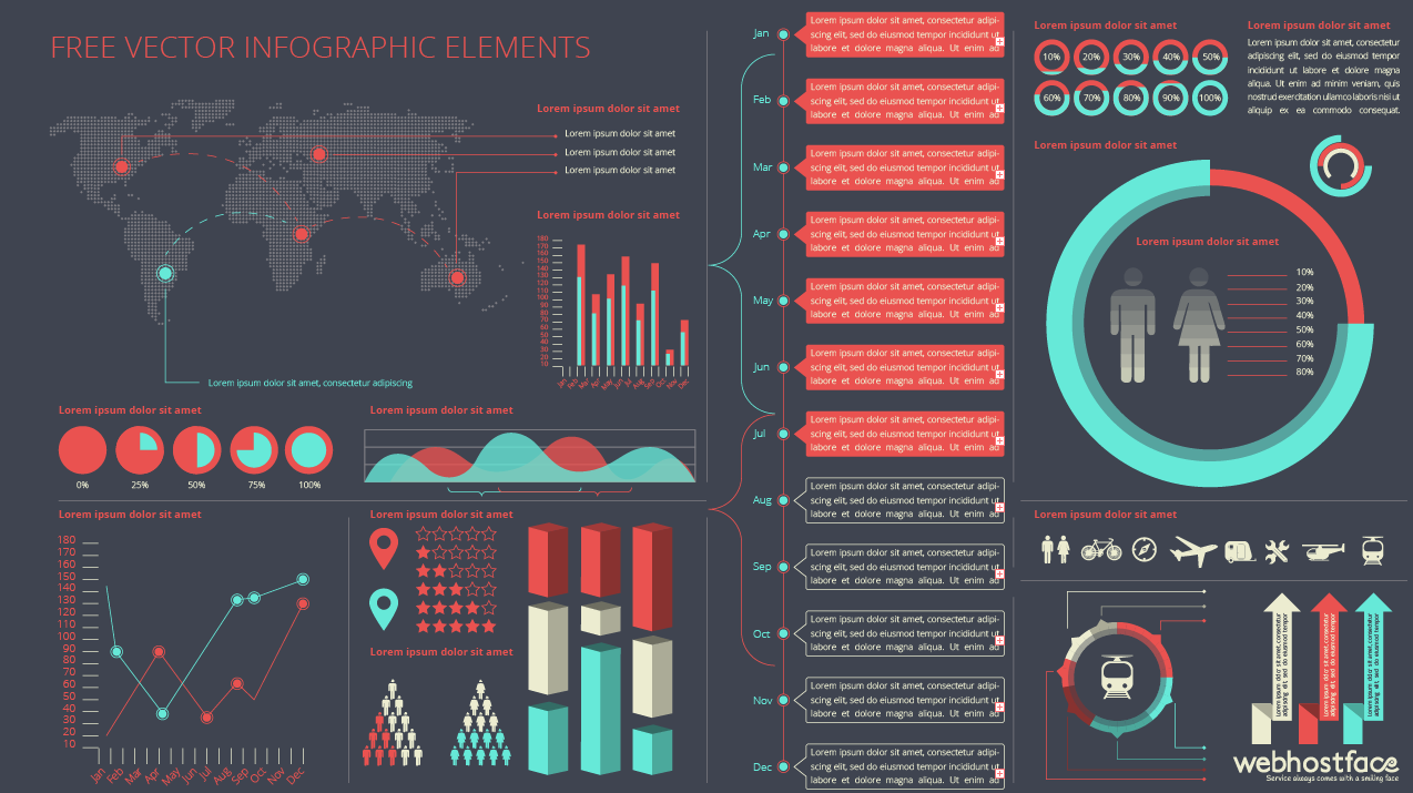 Free Infographic Elements by WebHostFace
