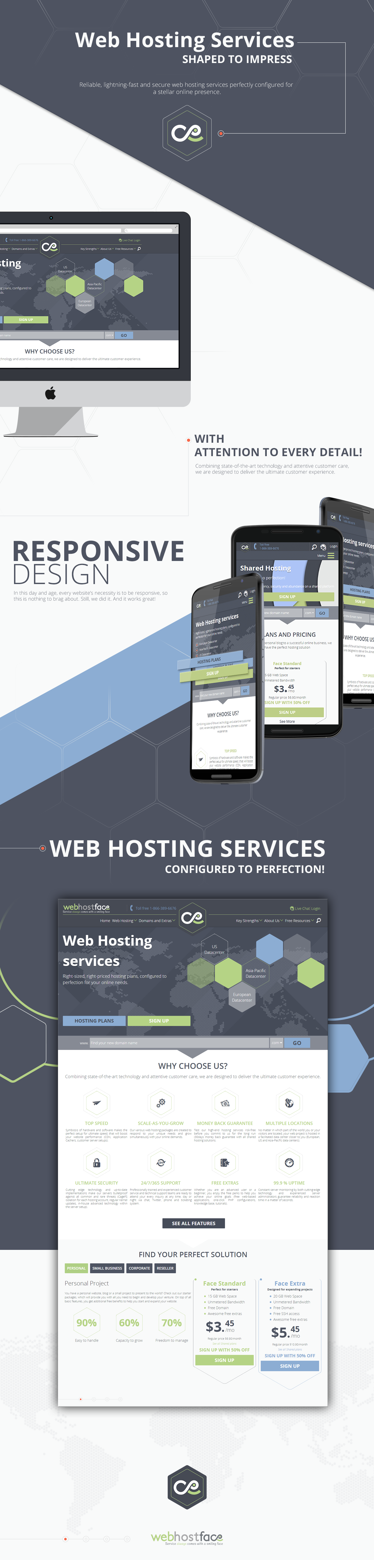 WebHostFace  new website