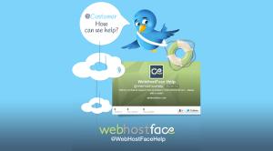 Tweeting the good customer service @WebHostFaceHelp