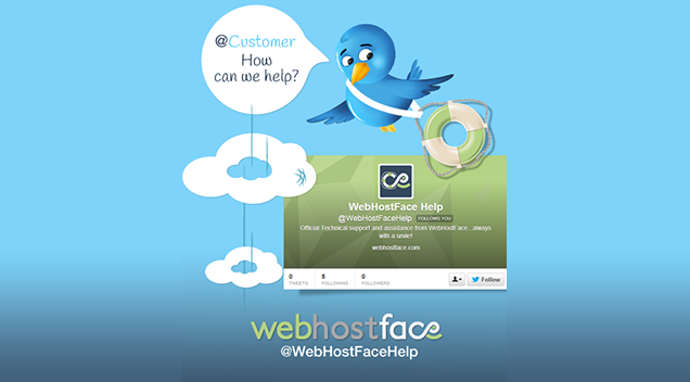 Tweeting the good customer service @WebHostFaceHelp