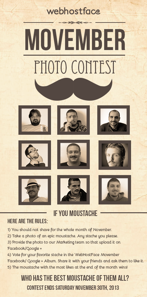 Movember @ WebHostFace