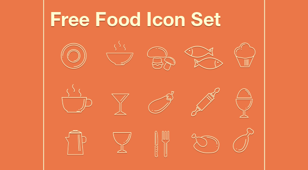 Today's Tasty Bites – Free Foody Icon Set