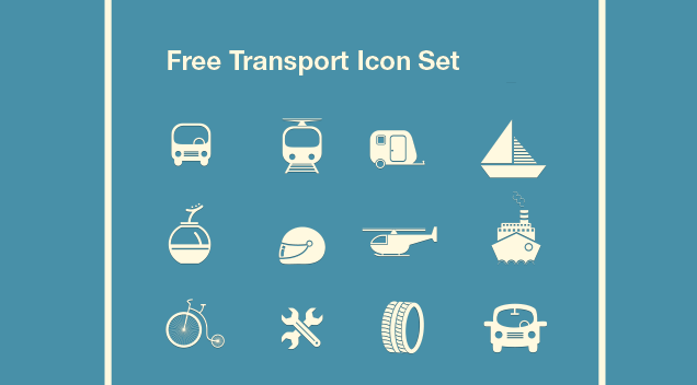 Need for Speed?- Here comes our Free Transport Icon Set
