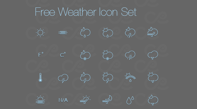Cloudy with a Chance of Free Weather Icons