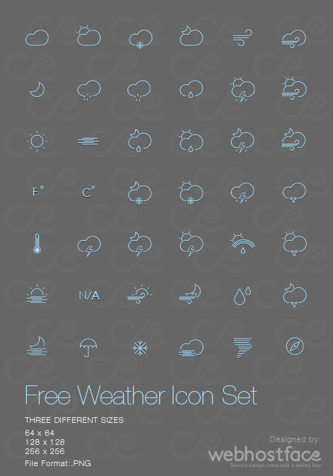 Free Weather Icons Set