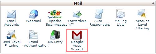 Google Apps Wizard cPanel