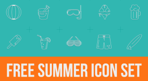 Free Summer Icons to Say Goodbye to Summer