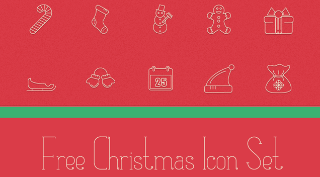 Freebie: Festive Christmas Icon Pack