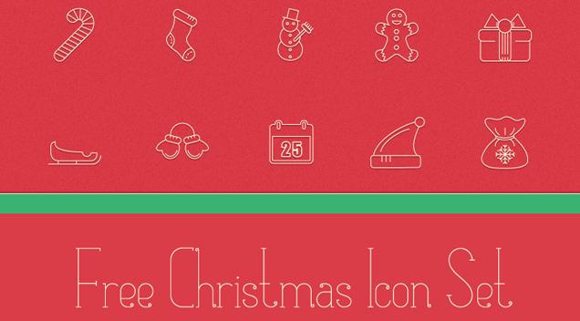 Freebie: Festive Christmas Icon Pack
