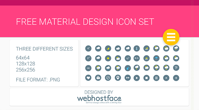 Free Google Material Design Icons Set by WebHostFace
