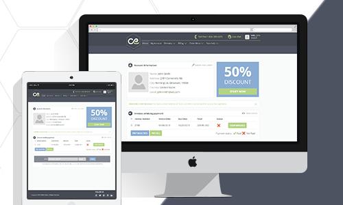 WebHostFace Customer Area redesign