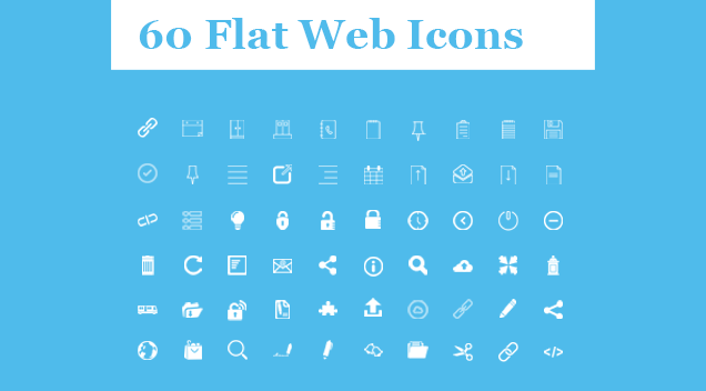 60 Flat  Web Icons by GraphicSprings