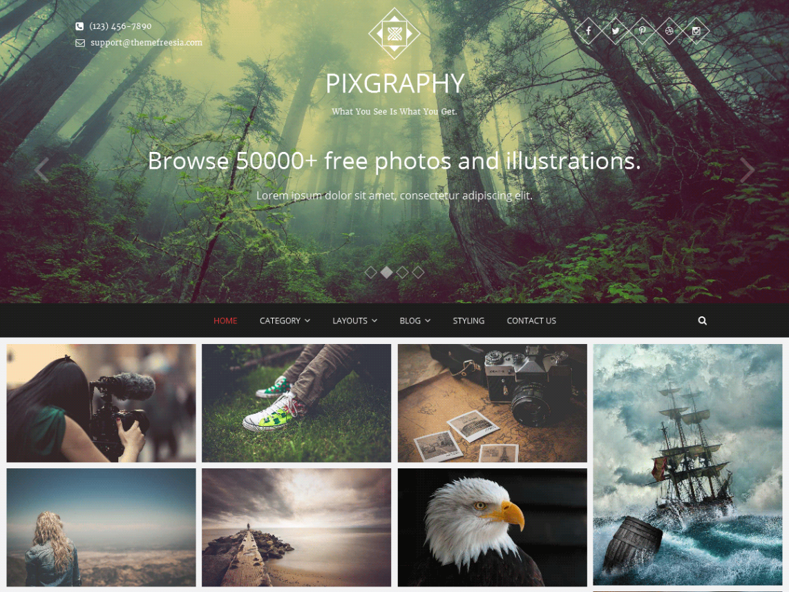 best WordPress themes for photographers 2017