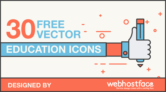 30 Free Education Vector Icons
