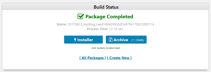 Duplicator installer and archive for backup restore