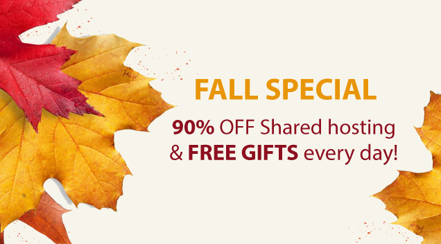 WebHostFace Fall Special: Huge Discounts and Amazing Bonuses!
