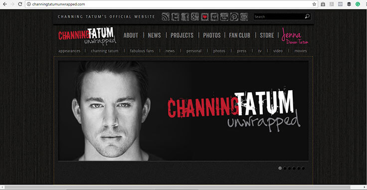 Channing Tatum Website