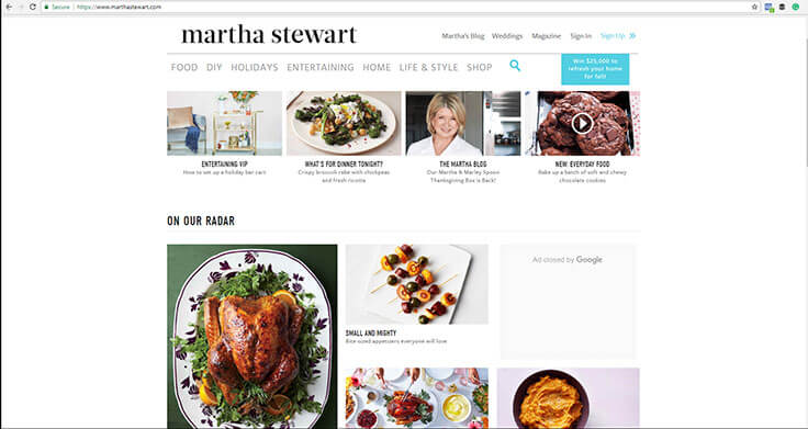 Martha Stewart Website