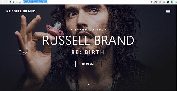 Russell Brand Website