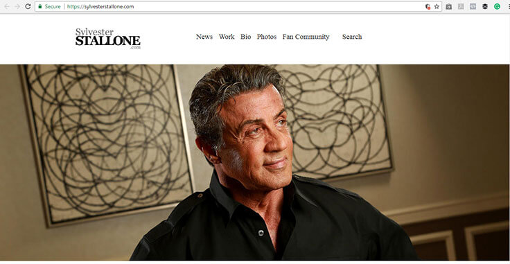 Sylvester Stallone Website
