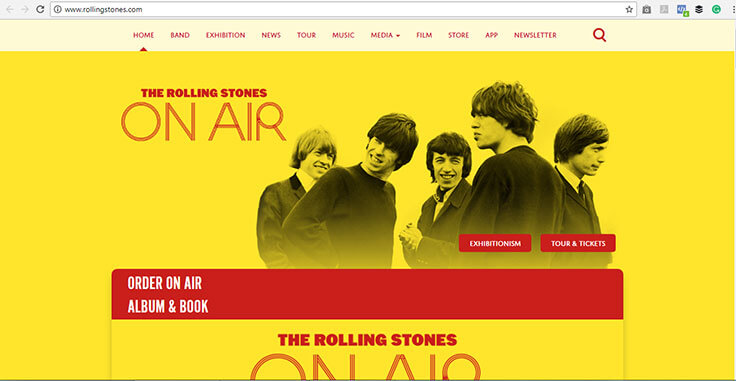 The Rolling Stones Website
