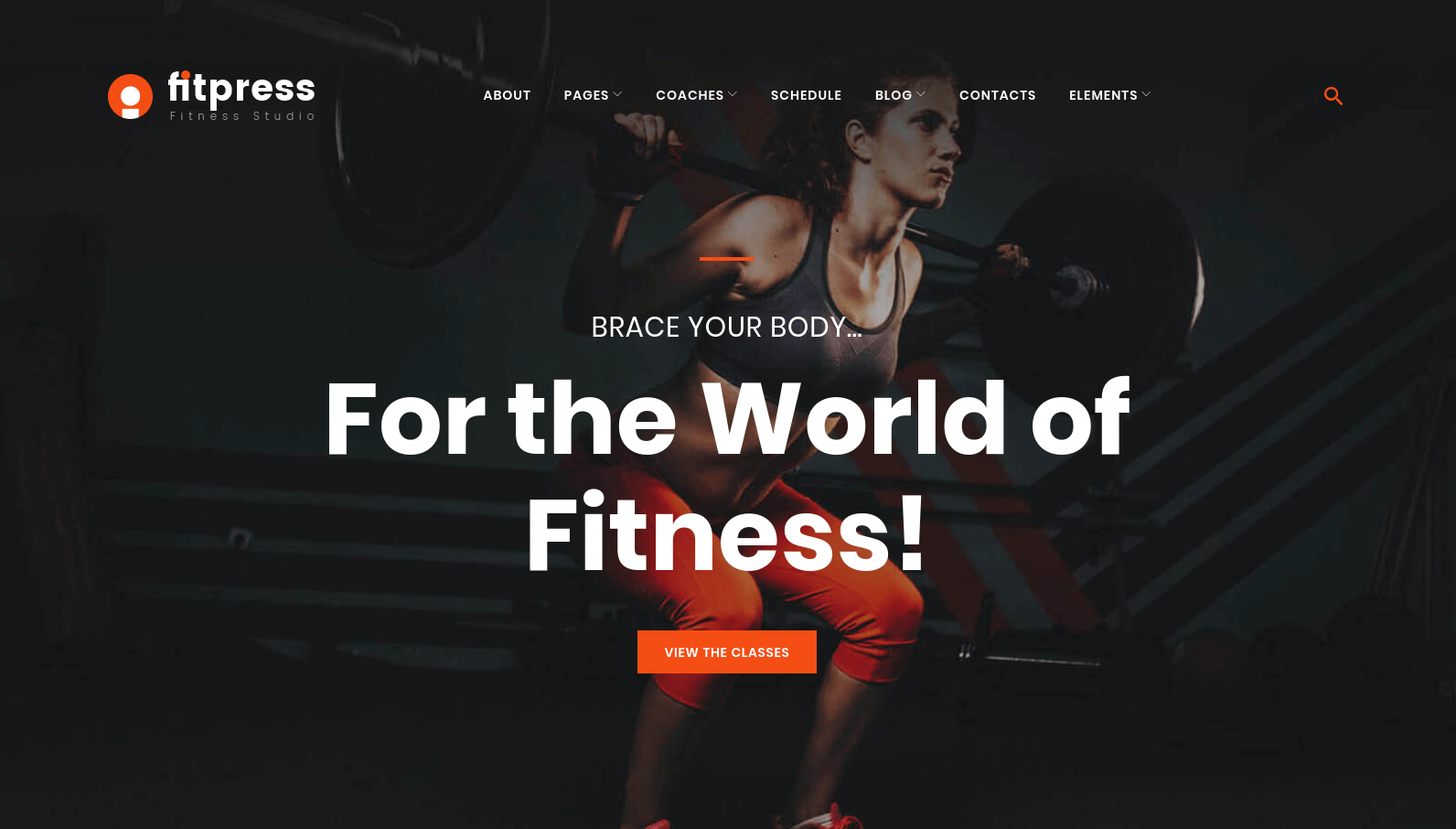 FitPress Fitness WordPress Theme