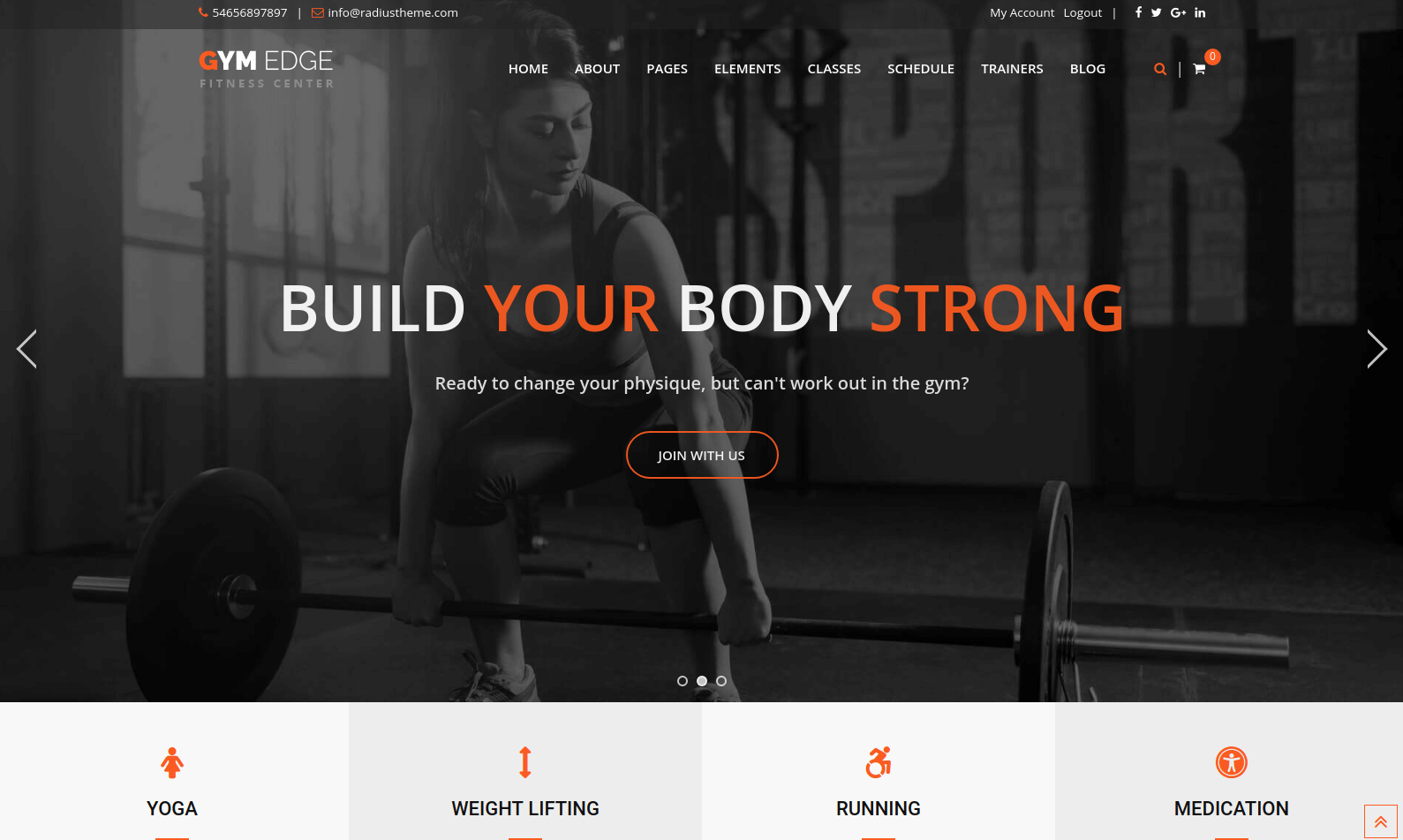 GymEdge Fitness WordPress Theme