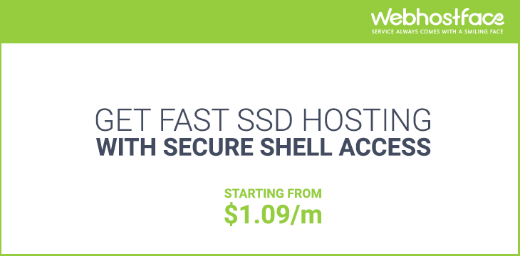 Fast SSD Hosting with SSH access