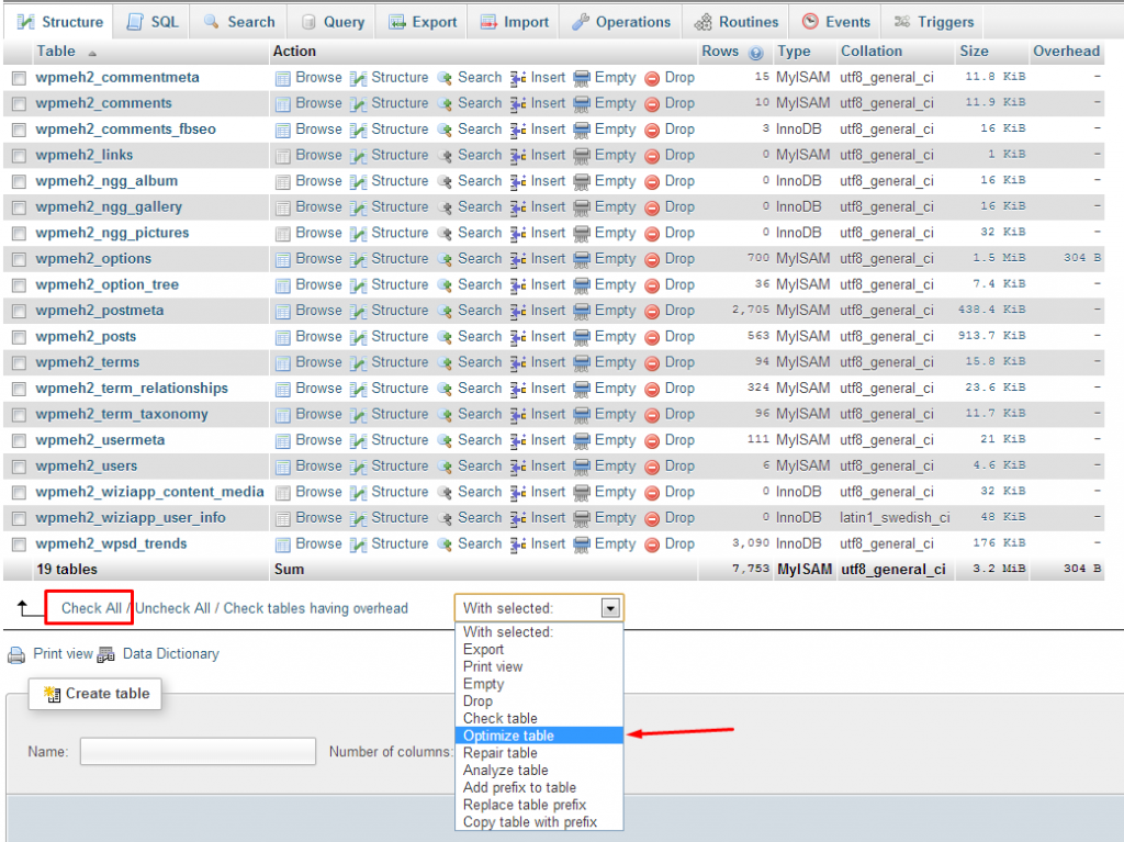 mysql optimize table - Awesome Home