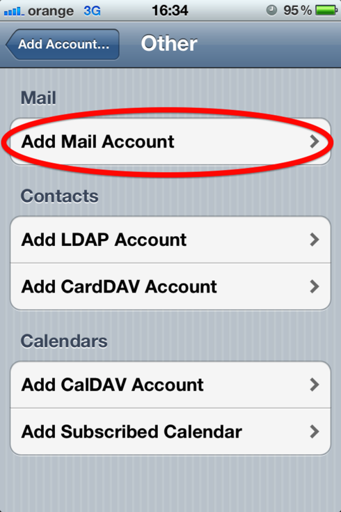 How to connect my email account to my iPhone?