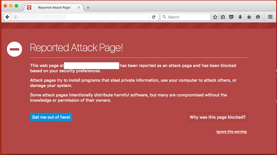 reported attack page google