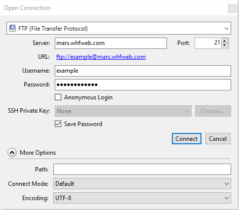 Quick Connect to FTP with Cyberduck FTP client on Windows