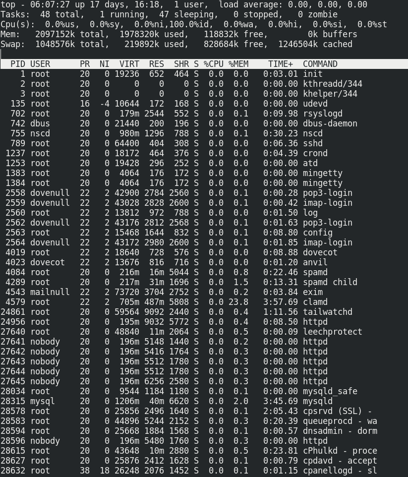 Linux Top Command - Monitor the performance, Processes, RAM