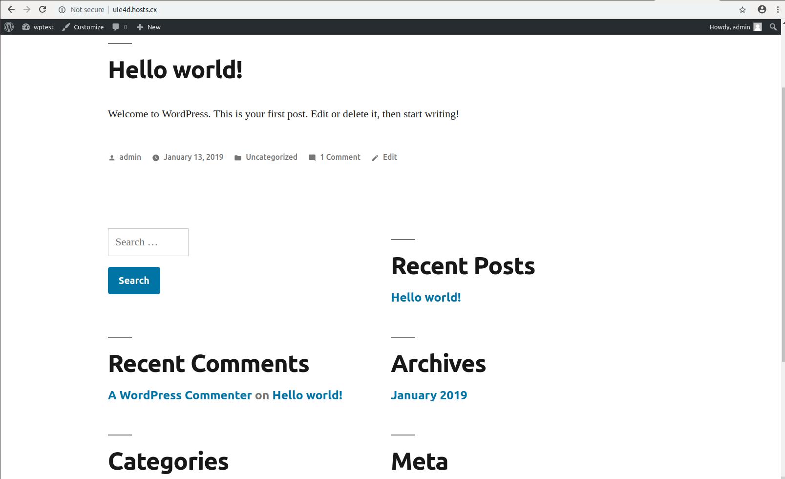 WordPress Installation with SSH